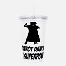 Foxtrot dance designs Acrylic Double-wall Tumbler