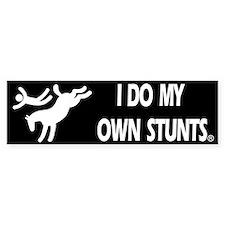 Horse I Do My Own Stunts Bumper Car Sticker