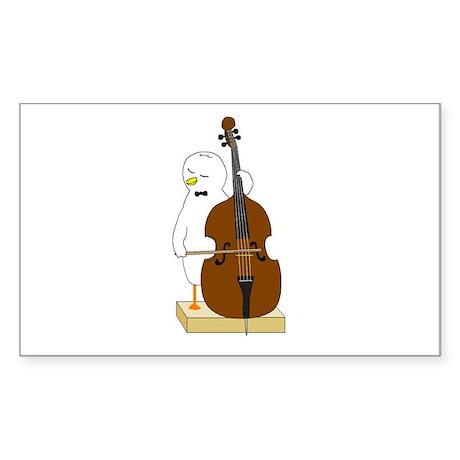 Double Bass Player Sticker (Rectangle)