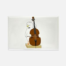 Double Bass Player Rectangle Magnet