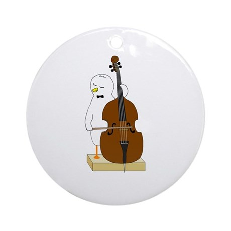 Double Bass Player Ornament (Round)
