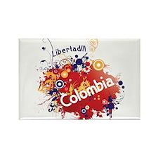 COLOMBIA RETRO Rectangle Magnet