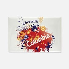COLOMBIA RETRO Rectangle Magnet