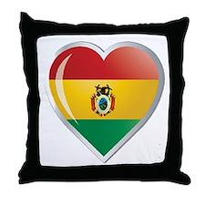 Bolivia corazon Throw Pillow