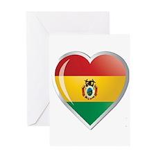 Bolivia corazon Greeting Card