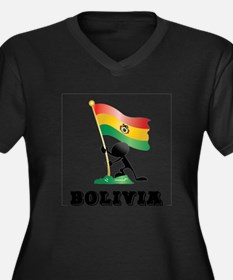 bol bandera Women's Plus Size V-Neck Dark T-Shirt