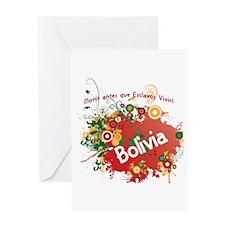 bolivia retro Greeting Card