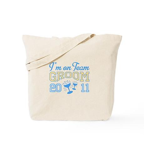 Champagne Team Groom Tote Bag