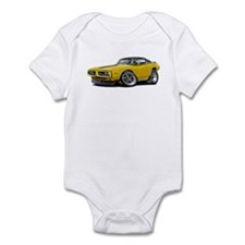 Charger Yellow-Black Top Car Infant Bodysuit