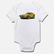 Charger Yellow-Black Top Car Infant Bodysuit