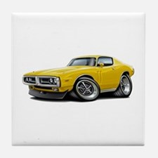 1971-72 Charger Yellow Car Tile Coaster