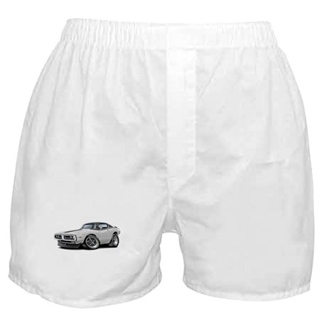 Charger White-Black Top Car Boxer Shorts