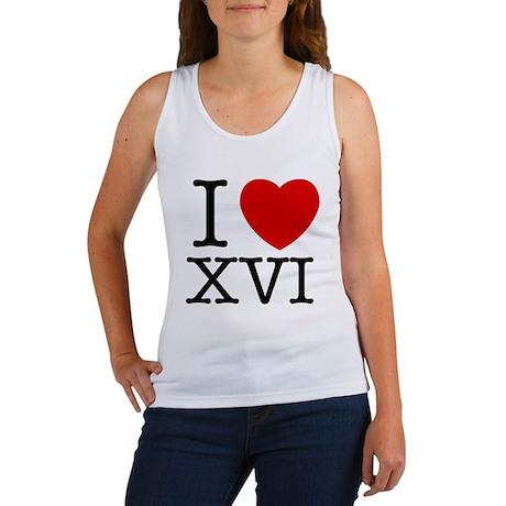 I Love XVI Women's Tank Top