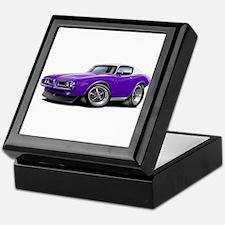 Charger Purple-White Top Car Keepsake Box