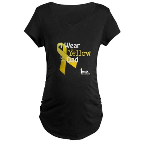 Yellow for Dad Maternity Dark T-Shirt