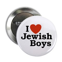 I Love Jewish Boys Button