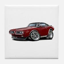 Charger Maroon-Black Top Car Tile Coaster