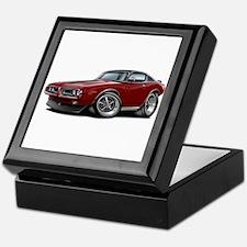 Charger Maroon-Black Top Car Keepsake Box