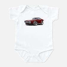 Charger Maroon Car Infant Bodysuit