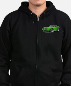 Charger Lime-Black Top Car Zip Hoodie