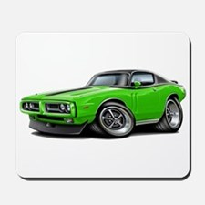 Charger Lime-Black Top Car Mousepad