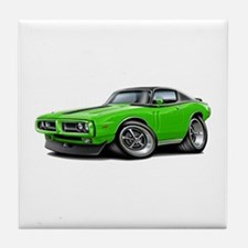 Charger Lime-Black Top Car Tile Coaster