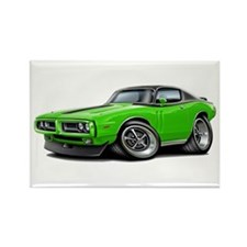 Charger Lime-Black Top Car Rectangle Magnet