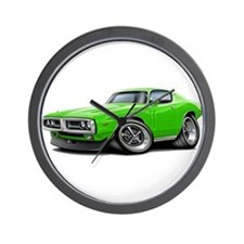 Charger Lime Car Wall Clock