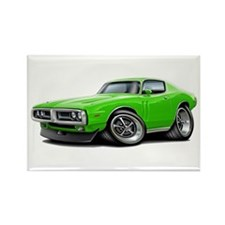 Charger Lime Car Rectangle Magnet