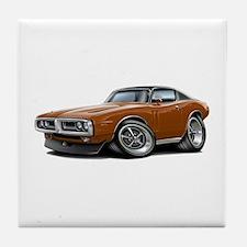 Charger Brown-Black Top Car Tile Coaster