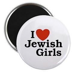 I Love Jewish girls Magnet