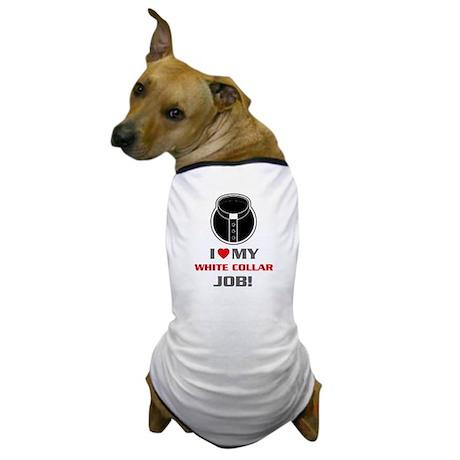 White Collar Dog T-Shirt