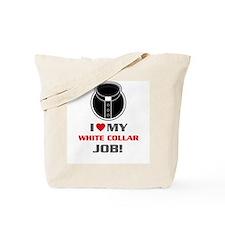 White Collar Tote Bag