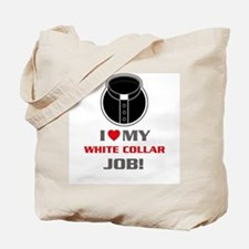 White Collar Tote Bag