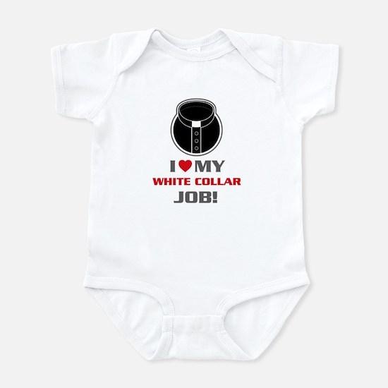 White Collar Infant Bodysuit