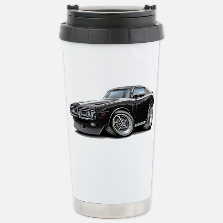 Charger Black-White Car Stainless Steel Travel Mug