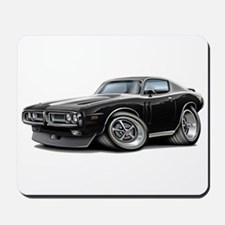 Charger Black-White Car Mousepad