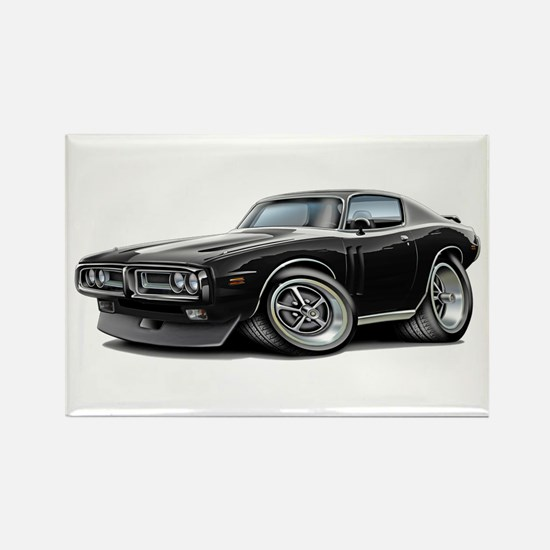 Charger Black-White Car Rectangle Magnet