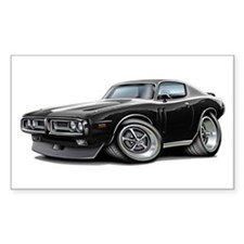 Charger Black-White Car Decal