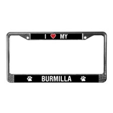 I Love My Burmilla Cat License Plate Frame