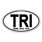 TRI (Triatlete) Euro Oval Sticker (Oval 10 pk)