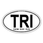 TRI (Triatlete) Euro Oval Sticker (Oval 50 pk)