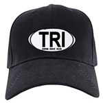 TRI (Triatlete) Euro Oval Black Cap