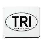 TRI (Triatlete) Euro Oval Mousepad