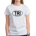 TRI (Triatlete) Euro Oval Women's T-Shirt