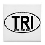 TRI (Triatlete) Euro Oval Tile Coaster