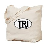 TRI (Triatlete) Euro Oval Tote Bag