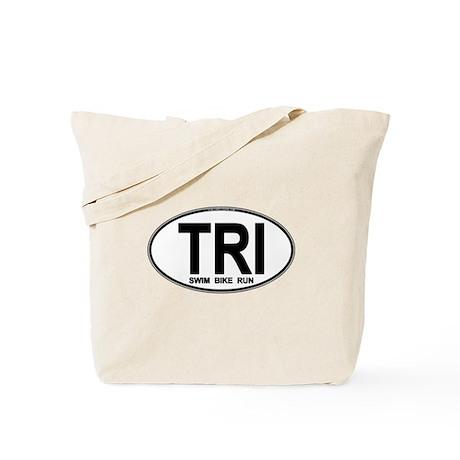 TRI (Triatlete) Euro Oval Tote Bag