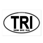 TRI (Triatlete) Euro Oval Postcards (Package of 8)