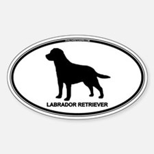 Lab Euro Oval Decal